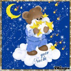 wünsche allen eine gute Nacht Eeyore Pictures, Teddy Pictures, Gif Pictures, Good Night Gif, Good Night Image, Good Night Quotes, Evening Greetings, Good Night Greetings, Bear Images