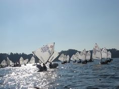Sailing at this time of the day is magic! Optimist dinghy