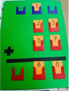 An idea for an interactive math station or bulletin board