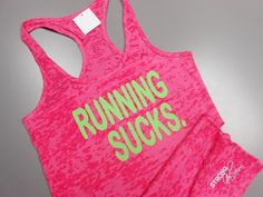 Workout Burnout Tank Tops CrossTraining Fitness Apparel by StrongGirlClothing I Hate Running, Running Tank Tops, Gym Tank Tops, Running Shirts, Running Women, Athletic Tank Tops, Workout Attire, Workout Wear, Workout Shirts