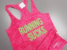 RUNNING tank top. RunningSucks. I Hate by StrongGirlClothing, $21.99