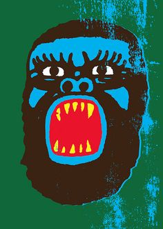 Ape 4 limited edition print by Mister Edwards,