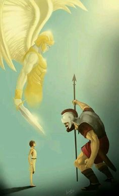 Reading and meditating on Bible accounts like David and Goliath can build our faith up. We are making our shield of faith bigger! Bible Art, Bible Scriptures, Christian Life, Christian Quotes, Images Bible, David And Goliath, Prophetic Art, Jehovah's Witnesses, Spiritual Warfare