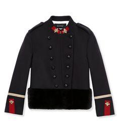 ShopBazaar Gucci Wool Military Jacket MAIN