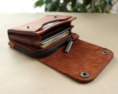 Real Leather wallet Small wallet credit card wallet womens