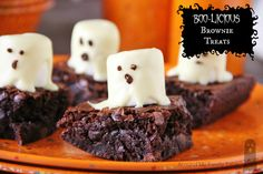 Boo-licious Brownie Treats...perfect for Halloween!