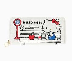 Hello Kitty Long Wallet: Bus Stop Collection