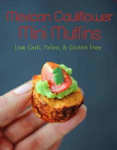 These Mexican Cauliflower Mini Muffins make tasty little brunch or breakfast bites – they're low carb, paleo and gluten free and packed with Mexican flavour!
