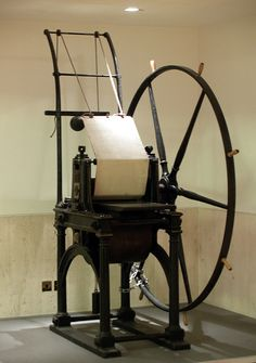 printing press - the last revolution in publishing involved these machines.