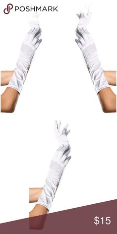 Cosplay Long Satin Gloves Halloween Costume White Cosplay Long Satin Gloves Halloween Costume  8B #C6 Accessories Gloves & Mittens