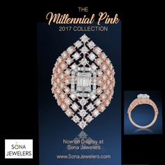 What a ring.. 18kt Rose Gold and Diamond ring. by Sona Jewelers