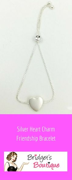 My pick for today is this super #cute silver #heart charm friendship #bracelet. At an amazing price and beautiful quality this is a perfect gift idea for any special friend. Simple, delicate and #pretty, this bracelet comes with an adjustable box chain and looks lovely on the wrist {Bridget}