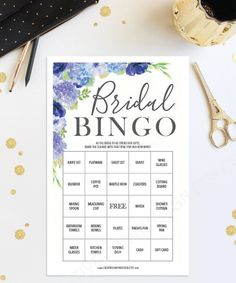 Bridal Shower Ideas - Hydrangea - Bridal Shower Games by CreativeUnionDesign