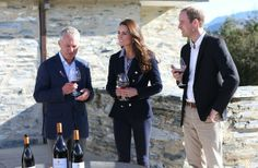 watchingwindsor:  Cambridge Royal Tour-Day 6, Queenstown, New Zealand, April 13, 2014-The Duke and Duchess of Cambridge visited the Amisfield Winery