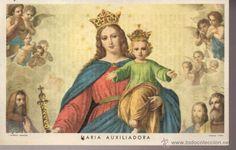 maria auxiliadora del año 1956 detras oracion gracia de maria auxiliadora villalonso zamora (Postales - Religiosas y Recordatorios)