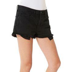 Big Star Kyle Five-Pocket Boyfriend Shorts ($74) ❤ liked on Polyvore featuring shorts, black, big star, big star shorts, boyfriend shorts, zipper shorts and 5 pocket shorts