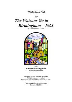 the watsons go to birmingham theme essay Argument protocol, cers, the watsons go to birmingham- 1963 think about the novels and stories we read so far this year, and the theme of fairness in discussions of fairness, some people might argue.