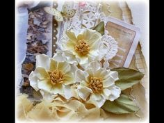 Step by step on how to make these inked and water distressed flowers