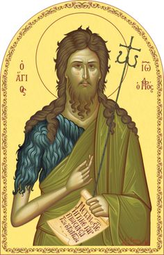 Religious Icons, Religious Art, Byzantine Icons, John The Baptist, Saints, Cathedral, Princess Zelda, Painting, Fictional Characters