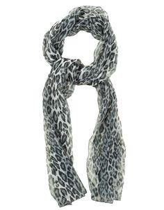 Blue Leopard Print Chiffon Scarf  #ChiaraFashion