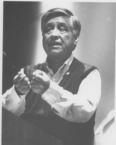 Caesar Chavez, United Farm Workers president, participated in the Distinguished Visitors Program at California State University, Northridge (CSUN) in May of 1990. He discussed the grape boycott in a presentation at the Northridge Theater at the University Student Union. The Chavez visit was sponsored by the School of Humanities, MeCHA, and the Department of Chicano Studies. CSUN University Digital Archives.