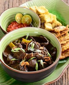 Daging Rawon, Traditional Indonesian Beef black soup. Black nuts or keluak is the main spice which gives the stong nutty flavor, and dark color to the soup.