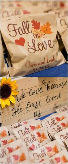 Wedding favors, sunflowers, fall in love, Christian wedding, rustic // Maria Estes Photography fall wedding styles / rustic october wedding / fall wedding stuff / fall wedding autumn / wedding ideas fall november Creative Wedding Favors, Inexpensive Wedding Favors, Edible Wedding Favors, Cheap Favors, Wedding Favors For Guests, Wedding Gifts, Wedding Souvenir, Craft Wedding, Wedding Stuff