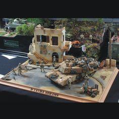 Diorama!!! Unknown Modeler  From: scalemodelchallenge  #scalemodel #plastimodelismo #miniatura #hobby #diorama #war #guerra #guerre #bataille #plastickits #usinadoskits #udk #plasticmodel #plastimodelo #plamodel #miniatura #miniature #miniatur #maqueta #maquette #modelismo #modelisme #iraque #iraq