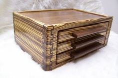 Double-Double Dovetail Jewelry Box with Three Drawers