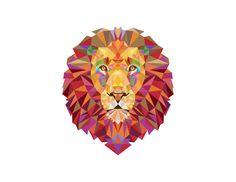 Leão Geométrico por Tâmara Marra. Lion géométrique par Tâmara Marra . Geometric Lion by Tâmara Marra.