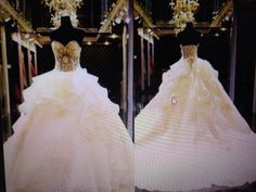 dress wedding dress white gold strapless strapless wedding dresses wedding princess princess wedding dress bead decoration pattern