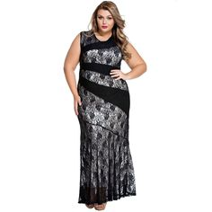 FGirl Ukraine Office Dress Party Dresses for Women Stylish Lace Splice Plus Size Mermaid Dress FG10258