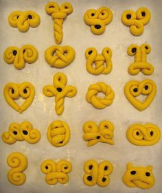 various shape ideas for lussekatter ( Lucia buns ) - I always stick to the basic S!