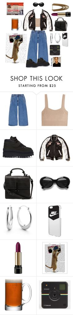 """Queen of the Ghetto"" by polaroidandfashion ❤ liked on Polyvore featuring Steve J & Yoni P, Jil Sander, Jeffrey Campbell, Hollister Co., Acne Studios, Shinola, NIKE, Lancôme, FabFunky and LSA International"