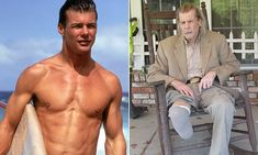 Once the highest paid actor on TV, Airwolf star Jan-Michael Vincent now lives out his days as a recovering alcoholic who almost died having his right leg amputated two years ago. Actors Then And Now, Celebrities Then And Now, Funny Mugshots, Emission Tv, Aesthetics Bodybuilding, Movie Facts, Hollywood, Classic Actresses, Mug Shots