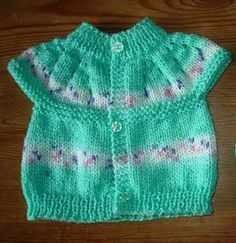marianna's lazy daisy days: All-in-one Knitted Baby Tops free pattern great for . : marianna's lazy daisy days: All-in-one Knitted Baby Tops free pattern great for charity knitting Baby Cardigan Knitting Pattern Free, Baby Knitting Patterns, Baby Patterns, Crochet Patterns, Cardigan Pattern, Knit Cardigan, Knit Dress, Knitting For Charity, Knitting For Kids