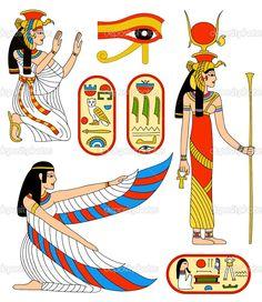 Dibujo y jeroglifico de la reina #Isis