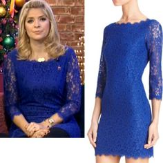 b3d61ea2997cb Where did Holly Willoughby get her blue lace dress from on This Morning 5/12