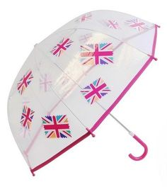 Union Jack Girls Pink Dome PVC Umbrella on eBay!