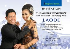 Invitation The Makeup Workshop With Laode