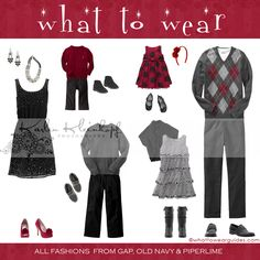 what to wear for a family Christmas photo shoot