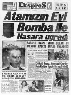 Newspaper Headlines, Old Newspaper, Trivia Of The Day, Turkey History, Olay, Once Upon A Time, Old And New, Istanbul, Nostalgia
