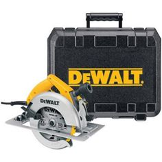 DEWALT DW364K 7-1/4-Inch Circular Saw with Electric Brake. Sharp and thin saw. This product satisfies the customer requirement. Manufacture in China. Rear pivot depth of cut adjustment allows your hand to remain behind the tool at all depth of cuts. Powerful 15.0 Amp, 2,075 MWO motor made for long life and difficult applications. Heavy-gauge, high-strength aluminum alloy base for increased durability on worksite. 50 degree beveling capacity increases capacity in various applications....