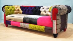 VELVET PATCH chesterfield patchwork sofa by namedesignstudio