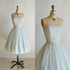 1960s Prom Dress Vintage Blue Cotillion Dress by DalenaVintage