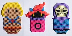 He-Man Skeletor and Orko by ThePlayfulPerler