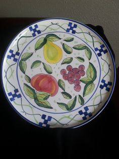 World Bazaars Inc Round Platter Vibrant Vintage 14\  & Jeff Banks Port of Call Churchill Super Vitrified Hotelware 1996 ...