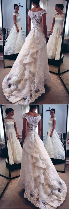 Wedding Dresses A-Line #WeddingDressesALine, Wedding Dresses 2018 #WeddingDresses2018, 2018 Wedding Dresses #2018WeddingDresses, Lace Wedding Dresses #LaceWeddingDresses