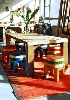 Made of New York - Industrial era building materials reclaimed to make a modern furniture line