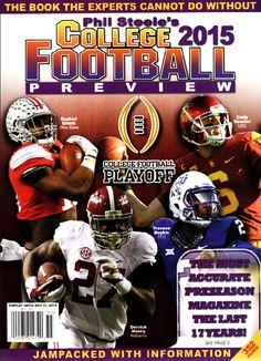 2015 PHIL STEELE'S NATIONAL COLLEGE FOOTBALL PREVIEW MAGAZINE COVER EZEKIEL ELLIOTT #15.